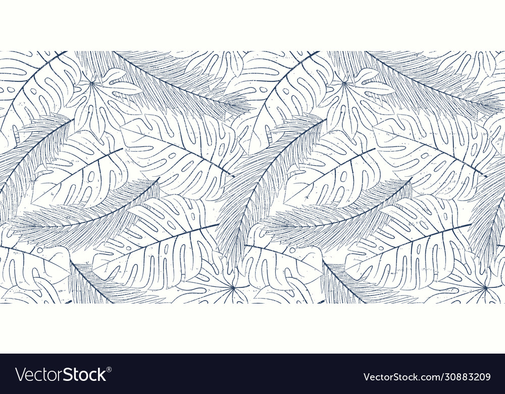 Tropical seamless natural pattern exotic leaves