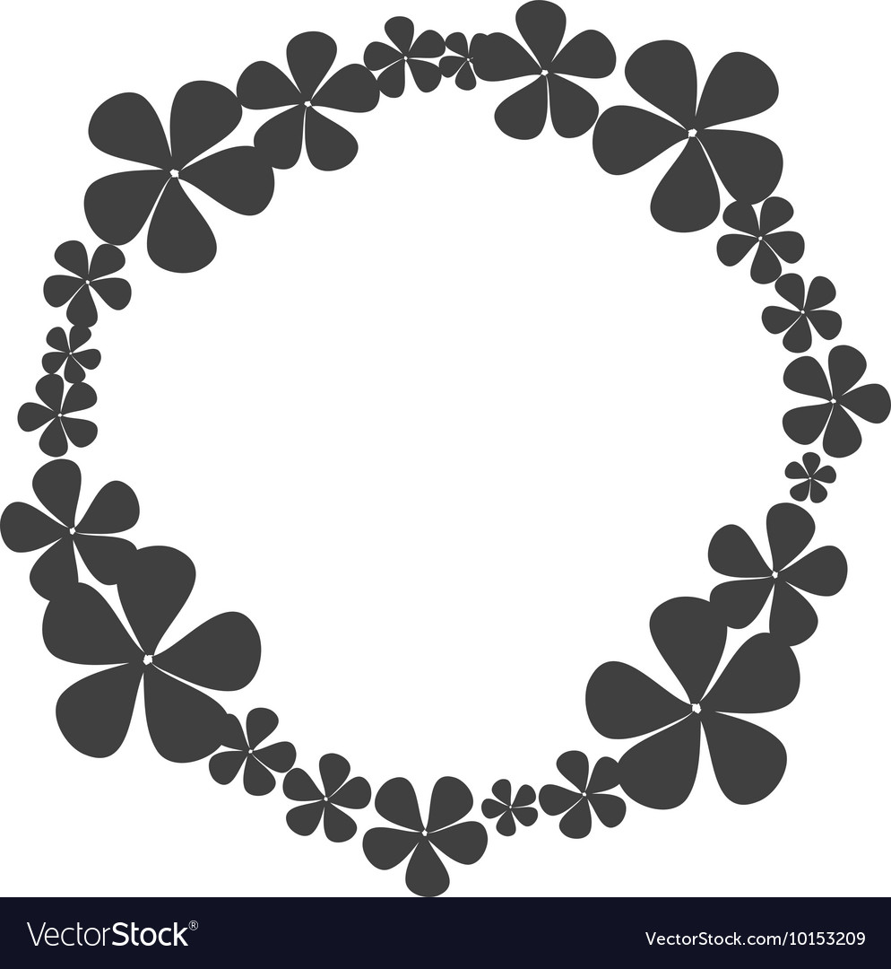 Wreath crown flower icon graphic