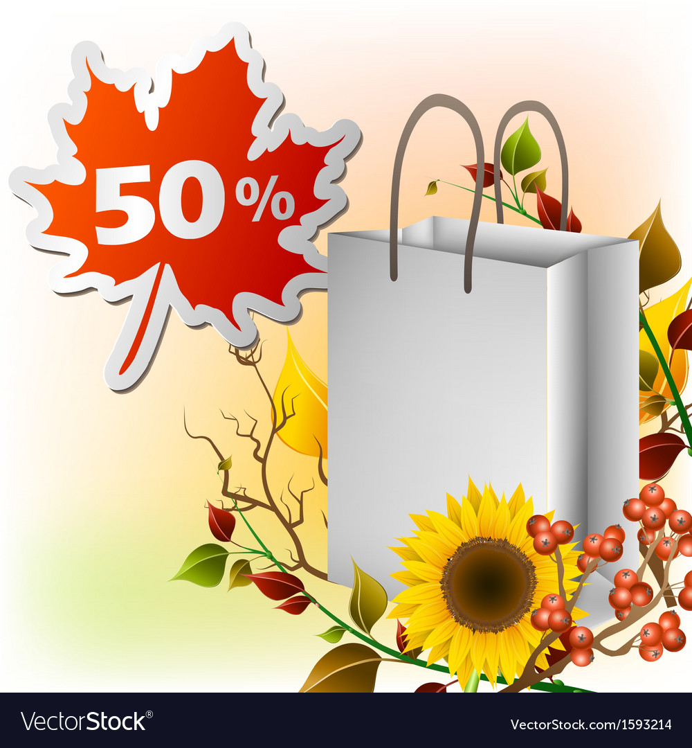 Autumn shopping bag