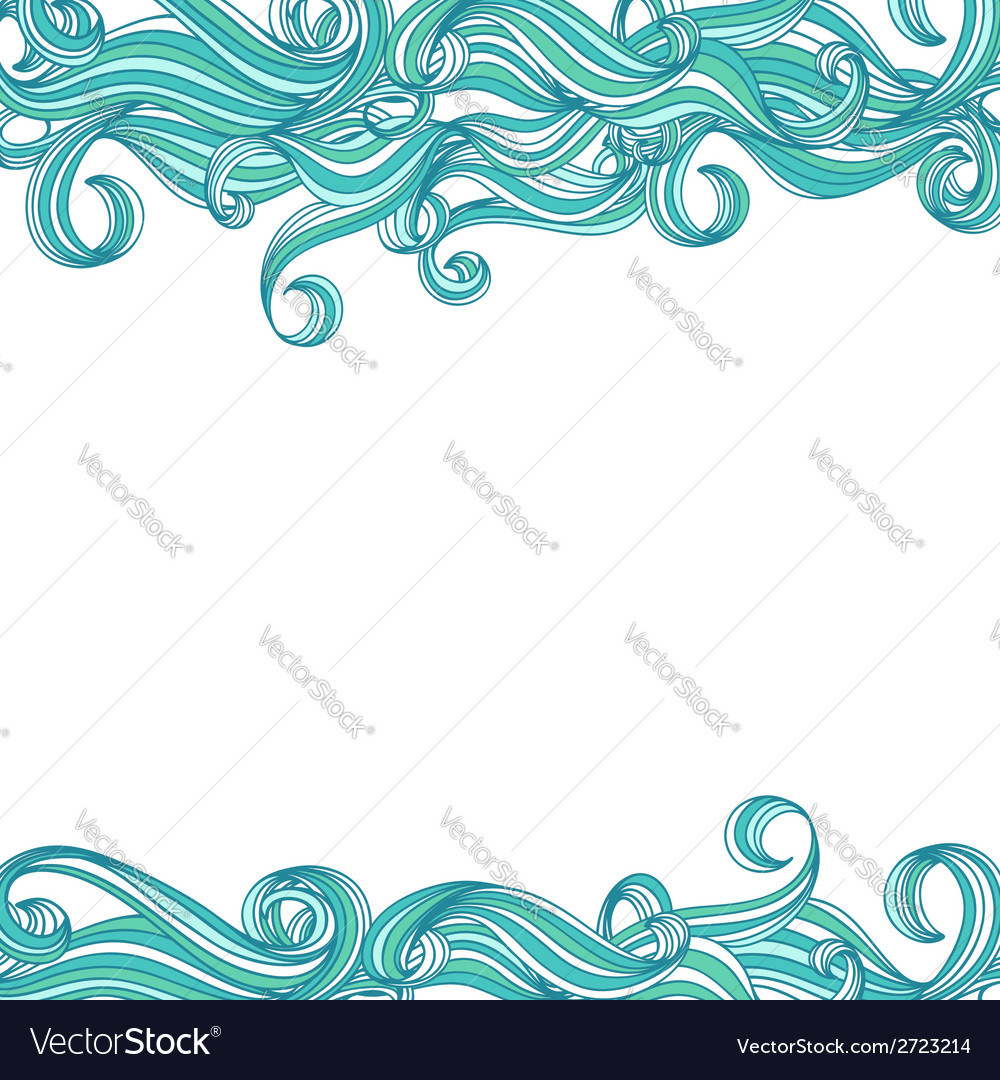 Background with hand drawn waves