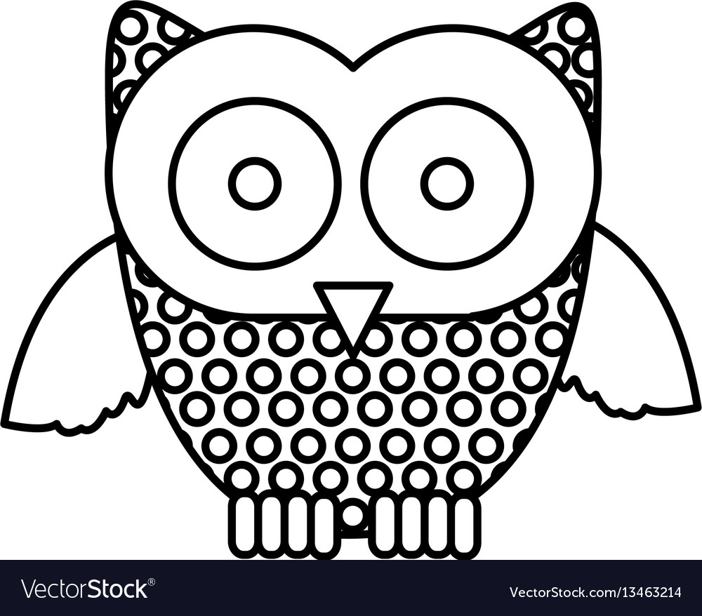 Figure stamp owl icon vector image