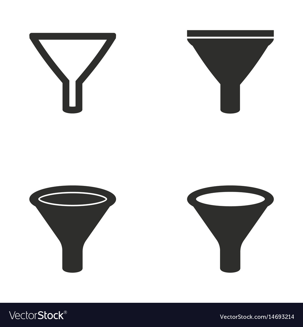 Funnel icon set