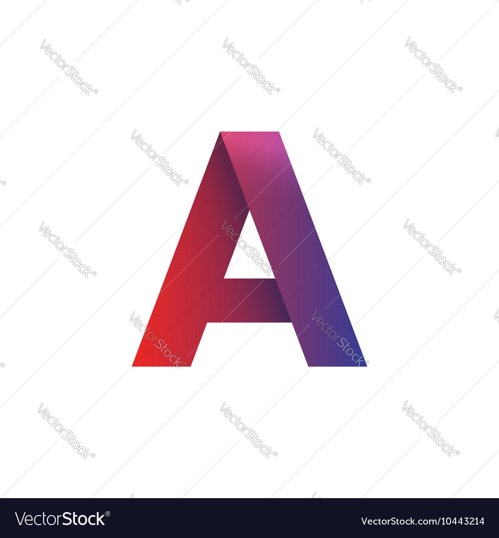 Letter A logo element isolated symbol