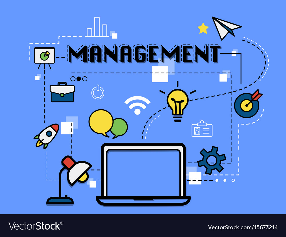 Management graphic for business concept