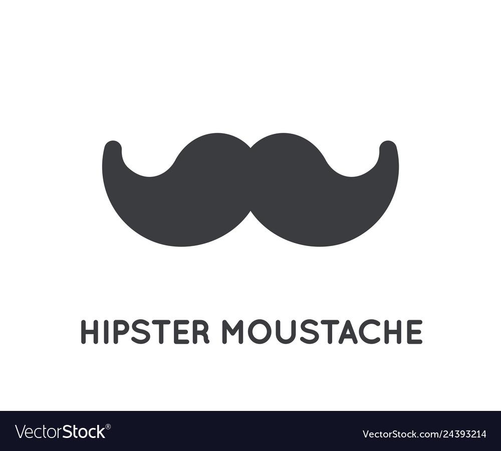 Mustache stylish icon glyph moustache vintage
