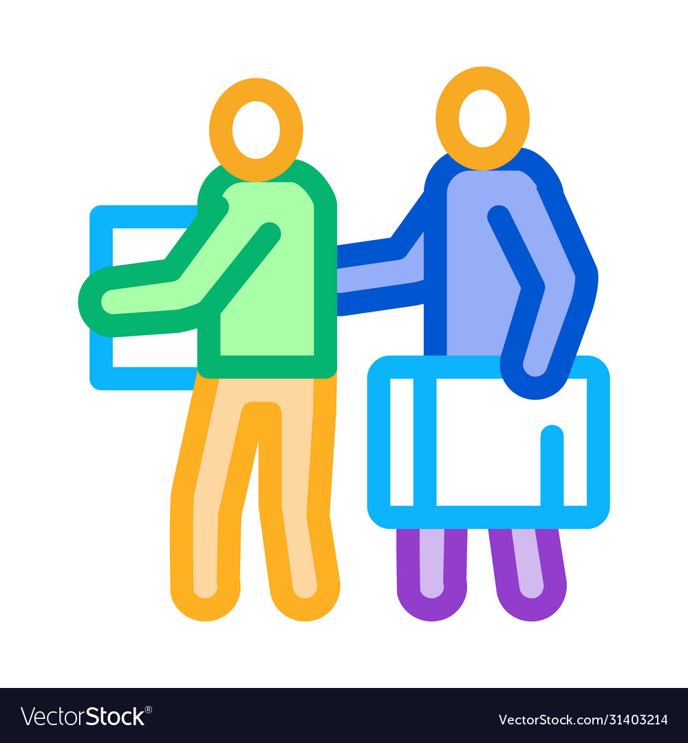 People with luggage icon outline