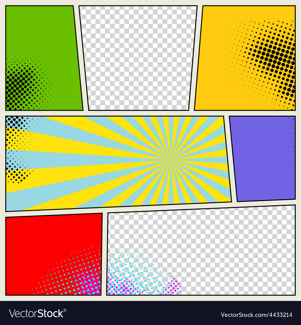retro comic book background royalty free vector image