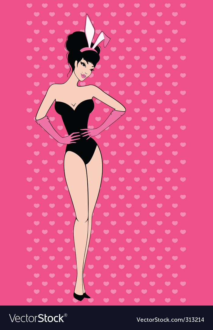 Show girl vector image