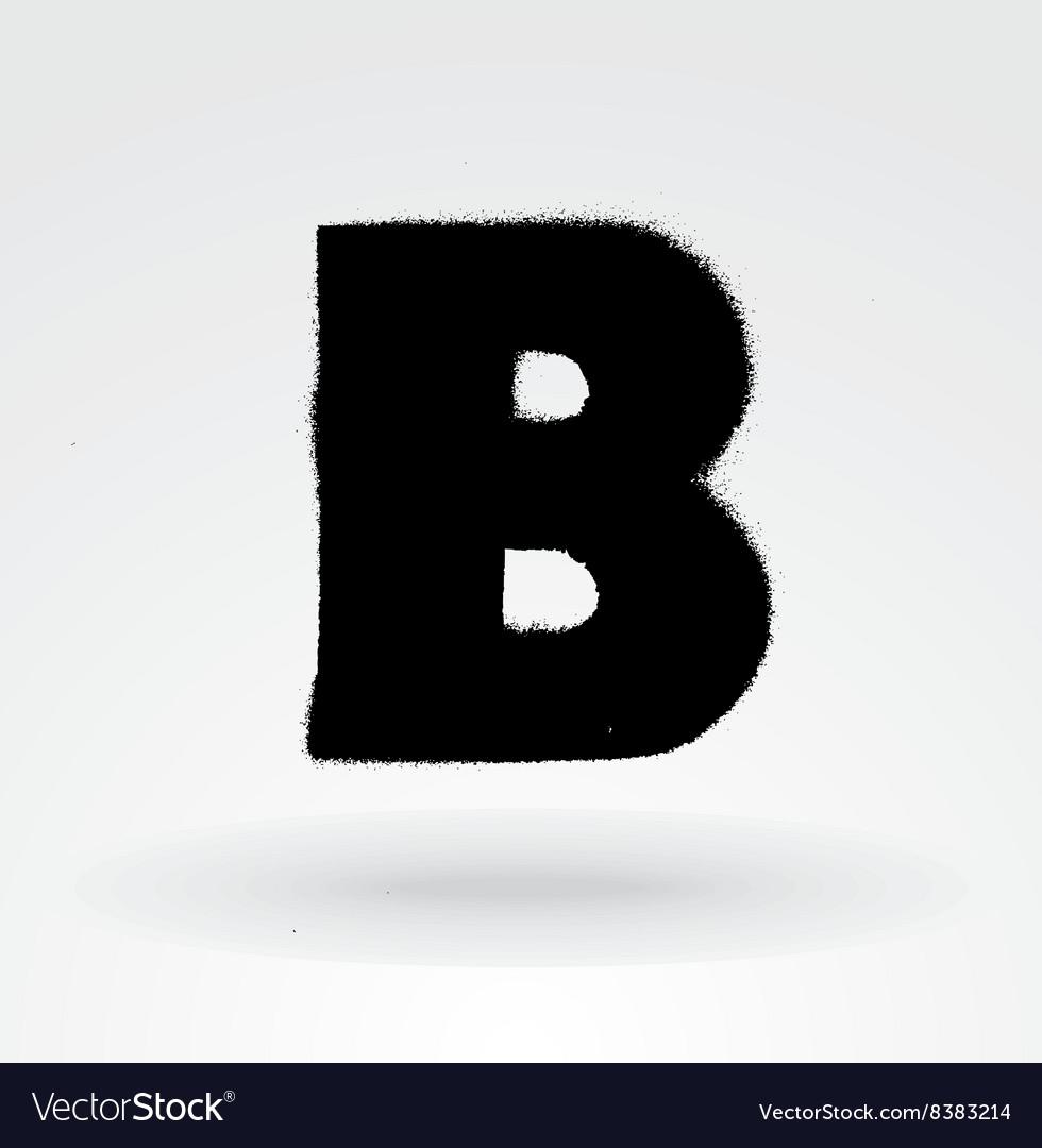 Stencil Spray Paint Font Detailed Alphabet