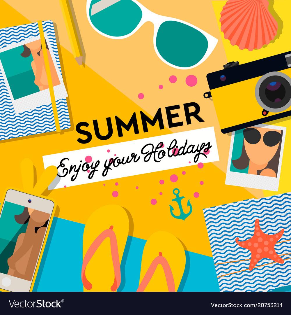 Summertime background enjoy your holiday