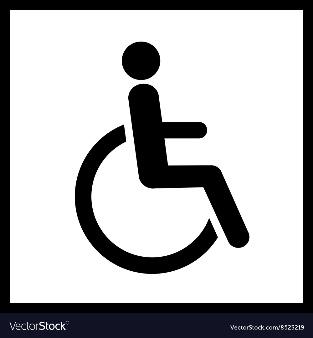 Disability icon isolated