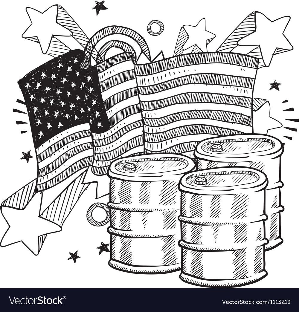 Doodle americana oil bw