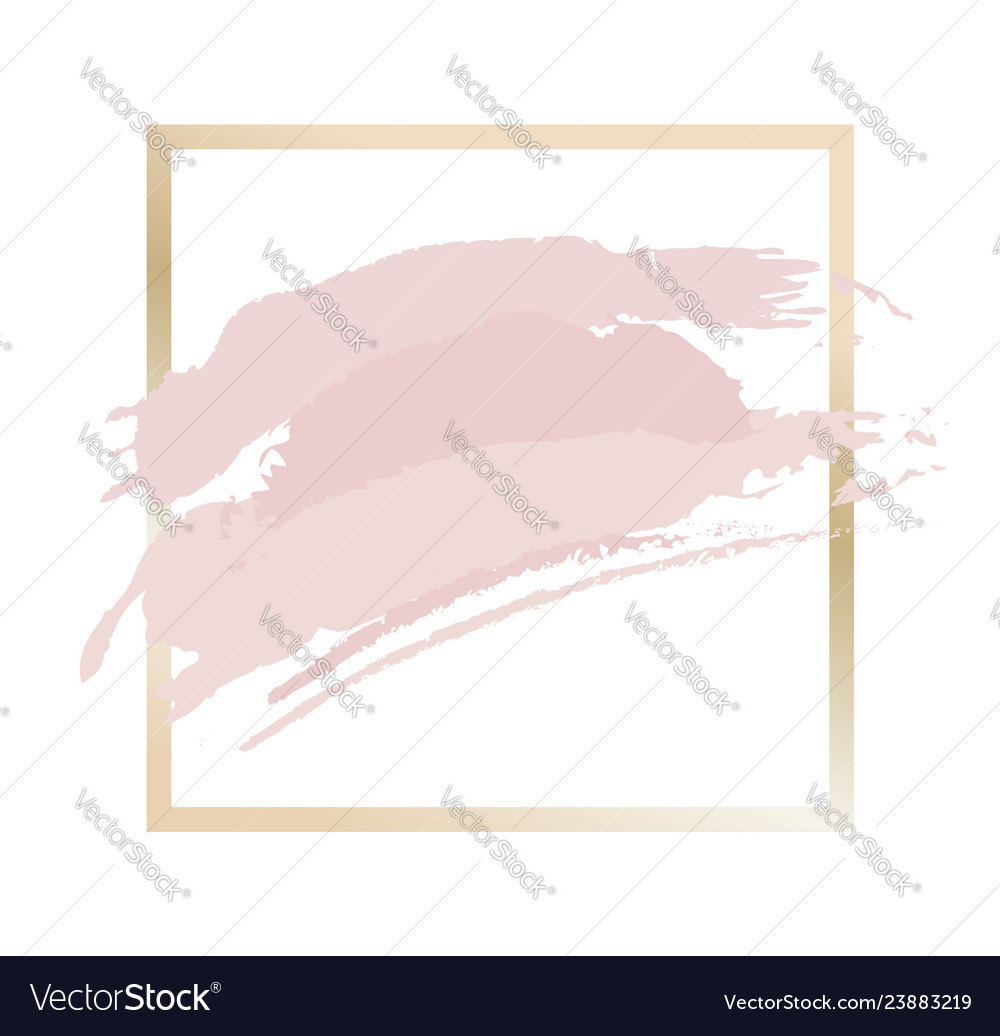 Gold and pink frame