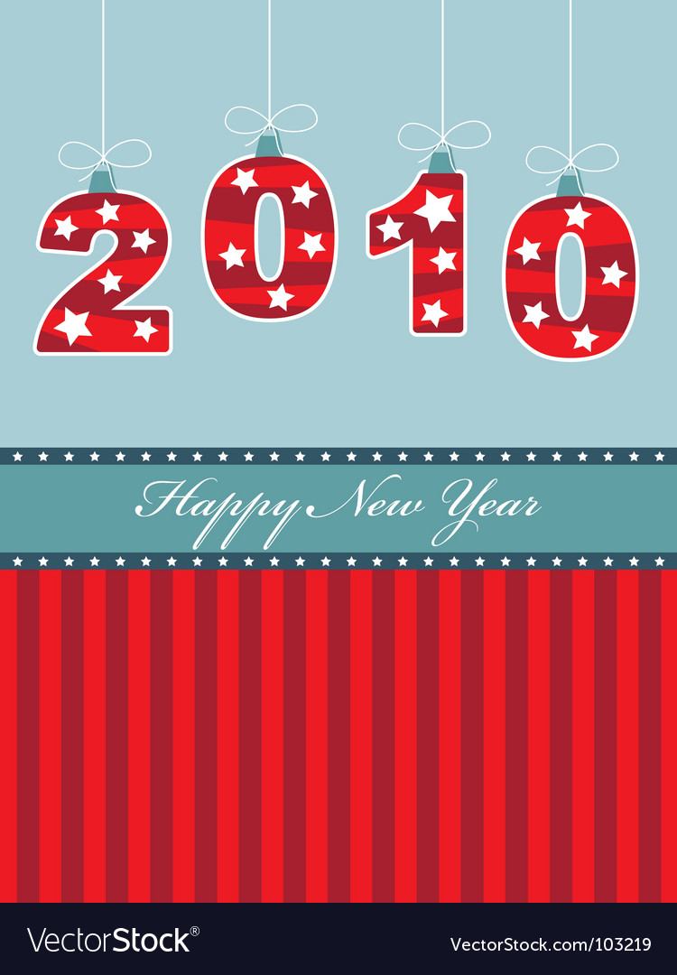 Happy new year 2010 vector image