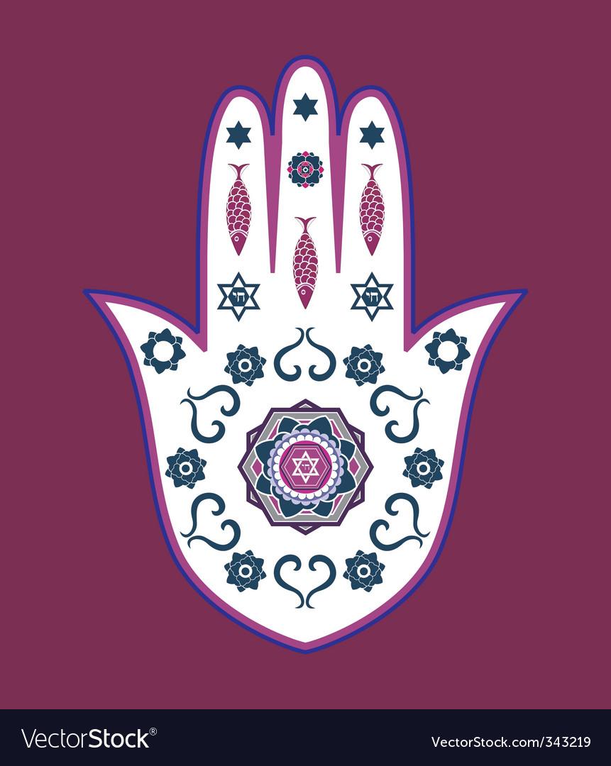 Jewish icons vector image