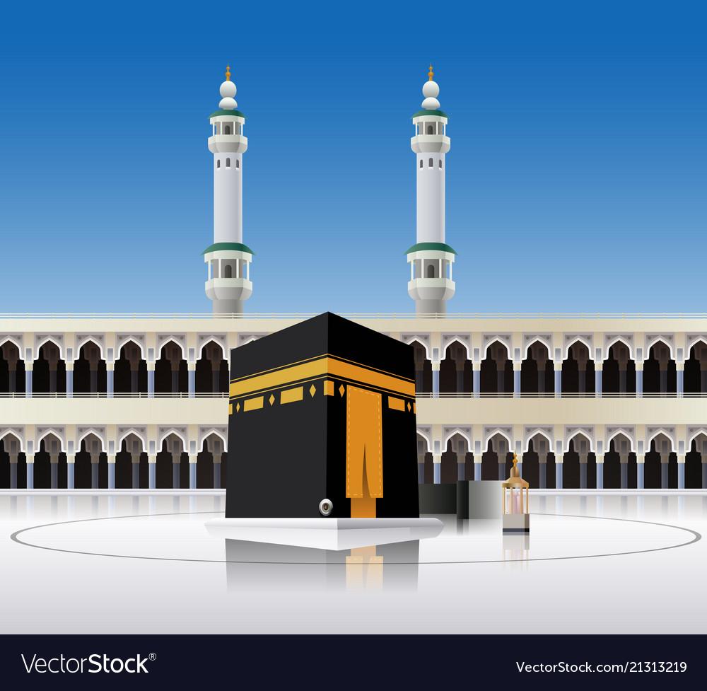 kaaba mecca saudi arabia royalty free vector image