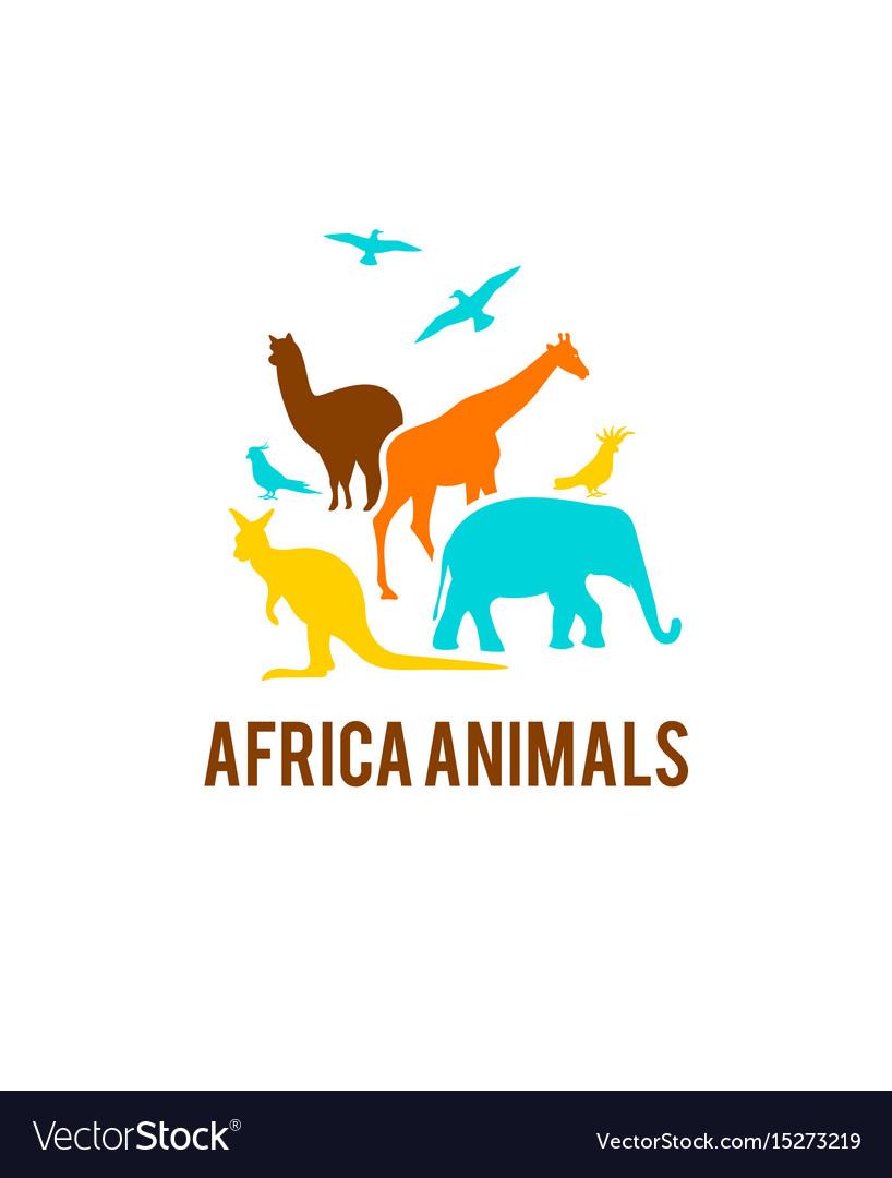Logo of african animals