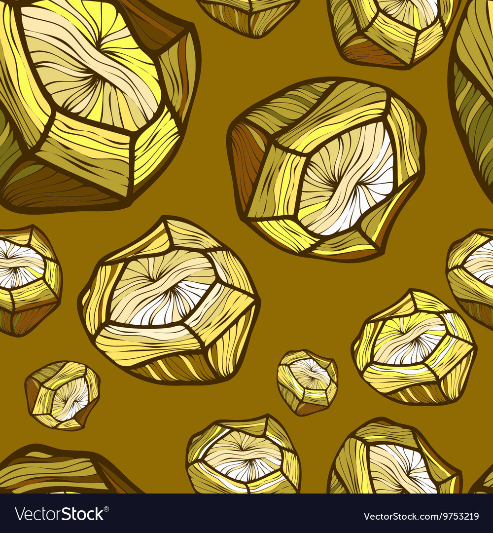 Seamless pattern with the image of a gold