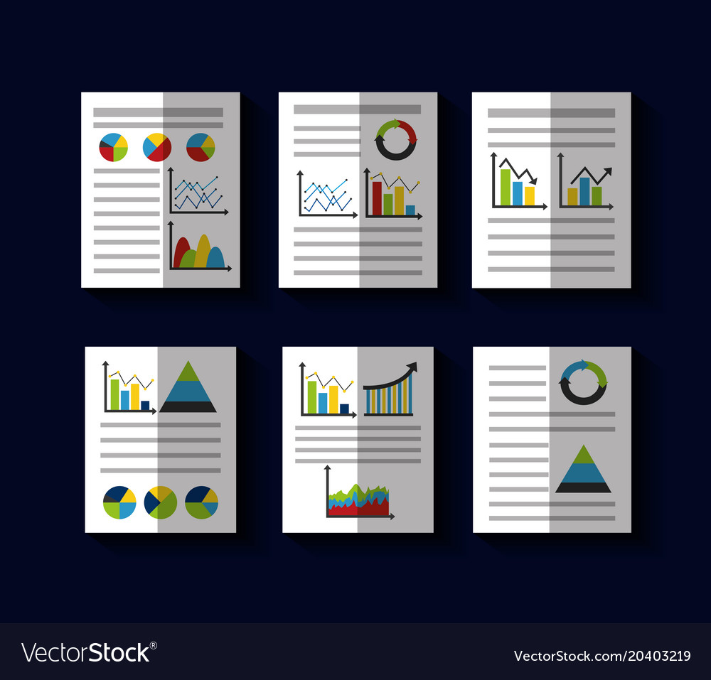 Statistics data business report template style