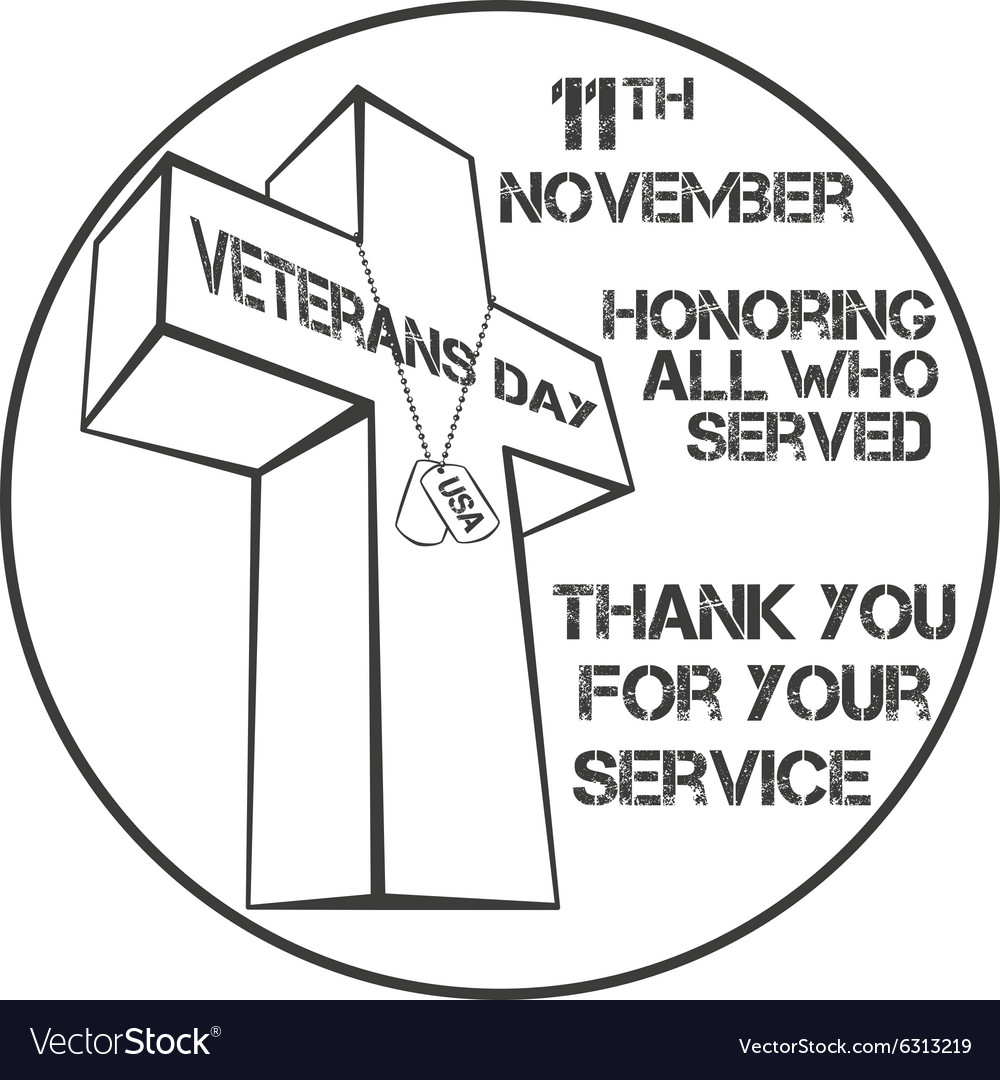 Veterans day sign vector image