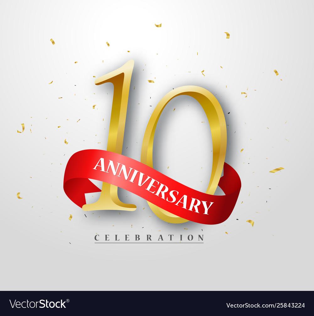 10 years happy anniversary banner celebration