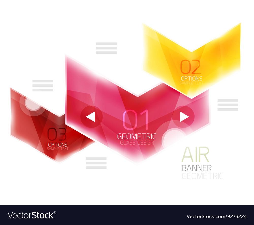 Colorful glossy arrow web box Royalty Free Vector Image