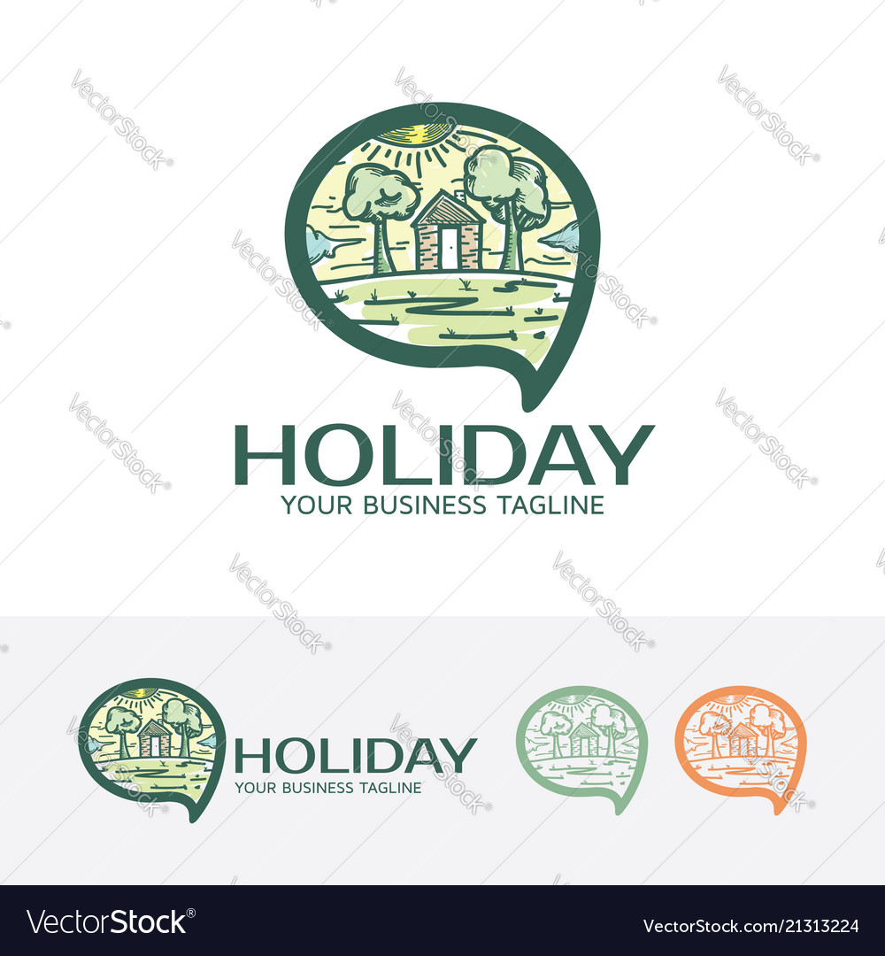 Holiday logo design