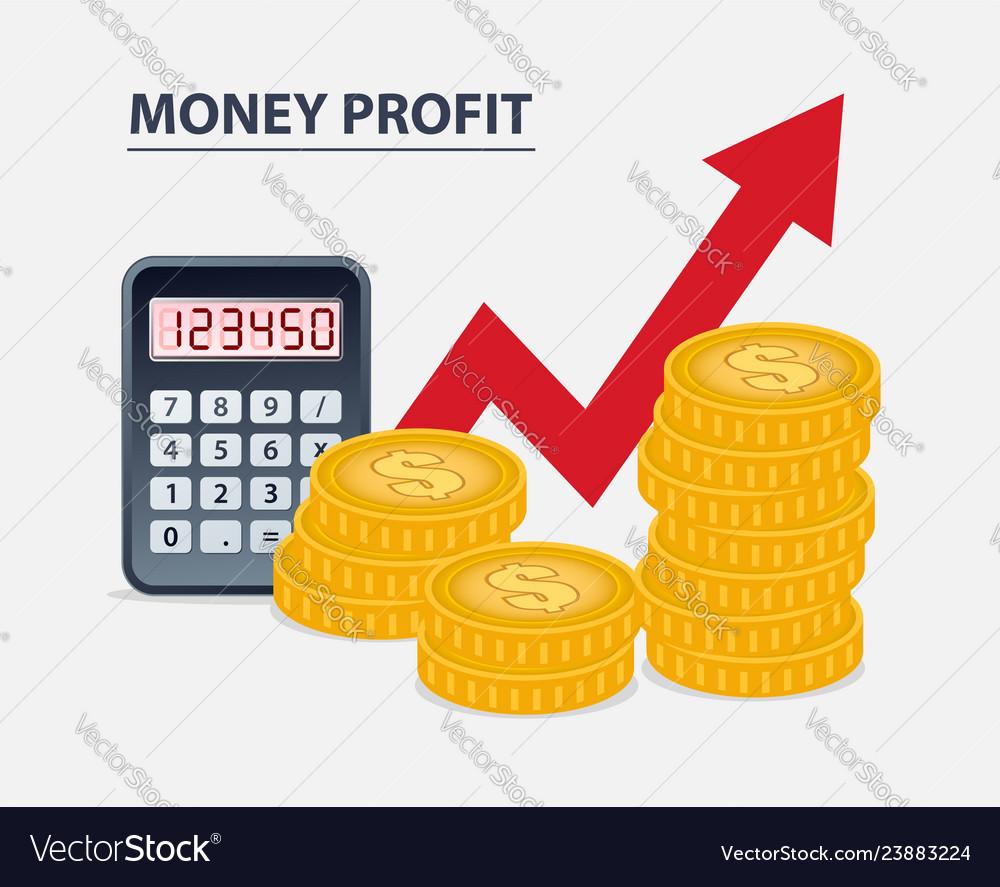 Money profit concept
