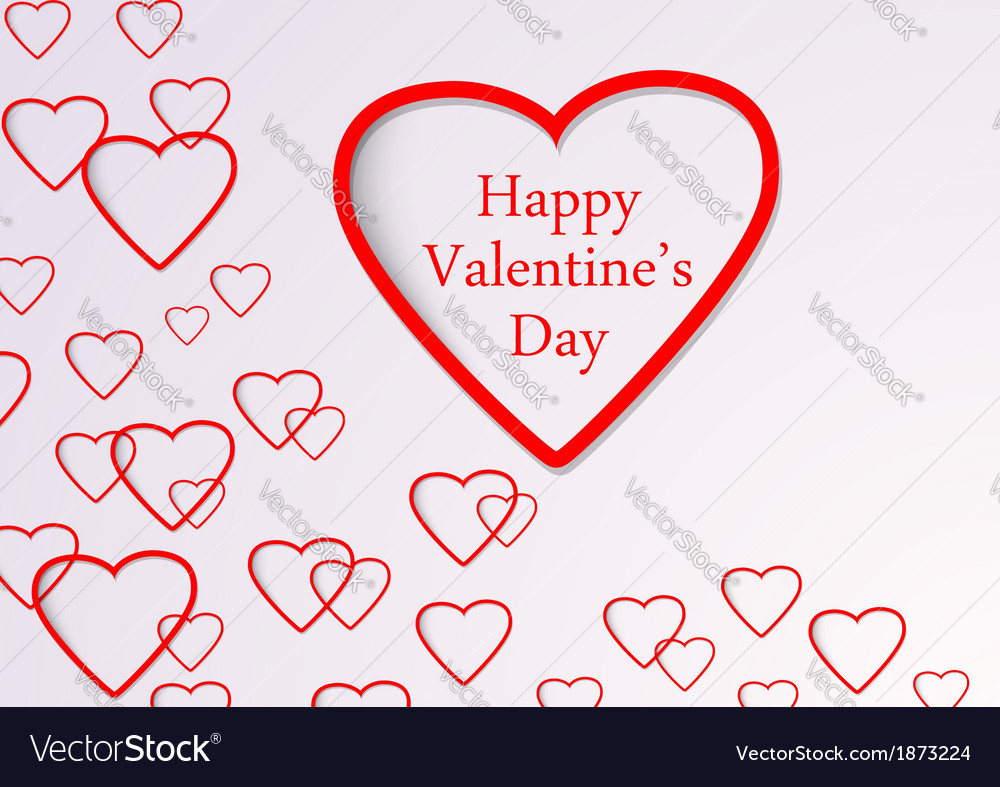 Valentine background with hearts flying