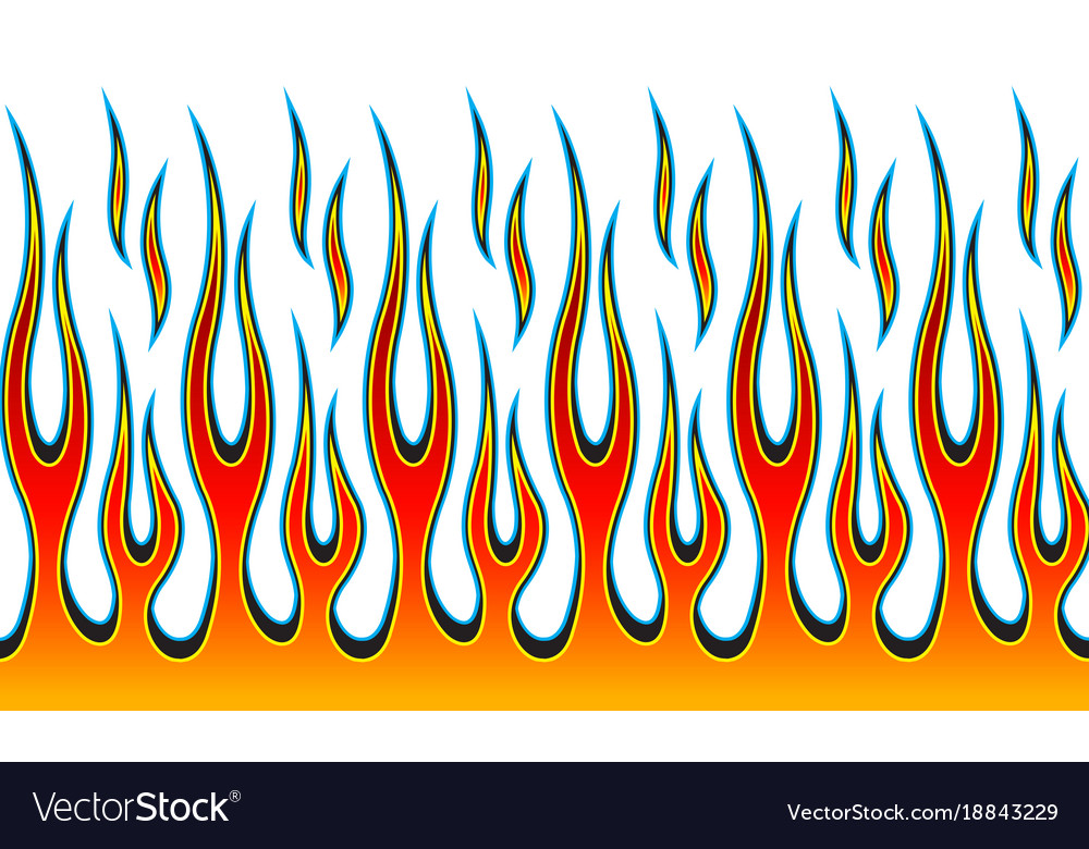 Classic Tribal Hotrod Muscle Car Flame Pattern Vector Image