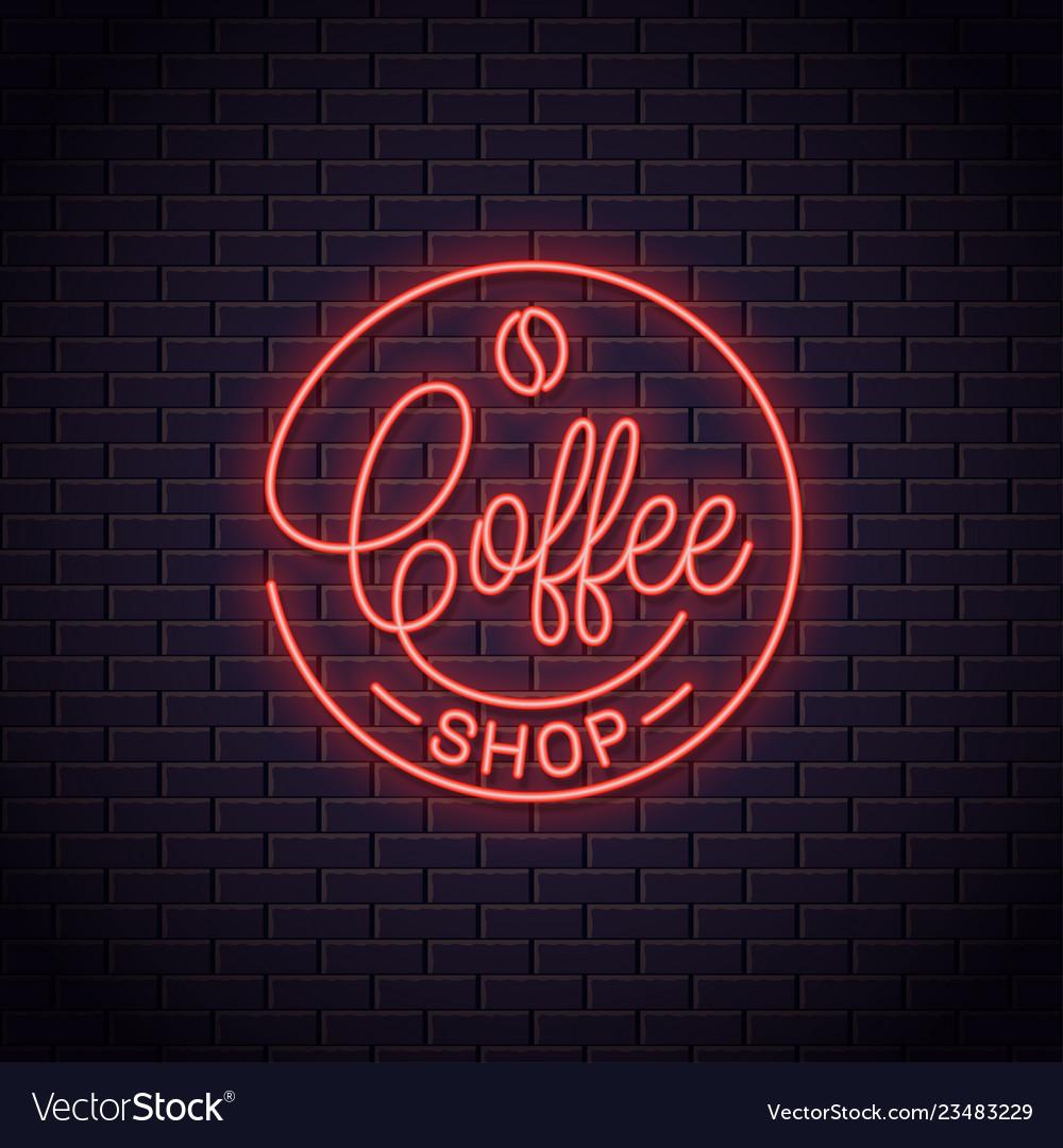 Coffee neon logo coffee shop neon sign