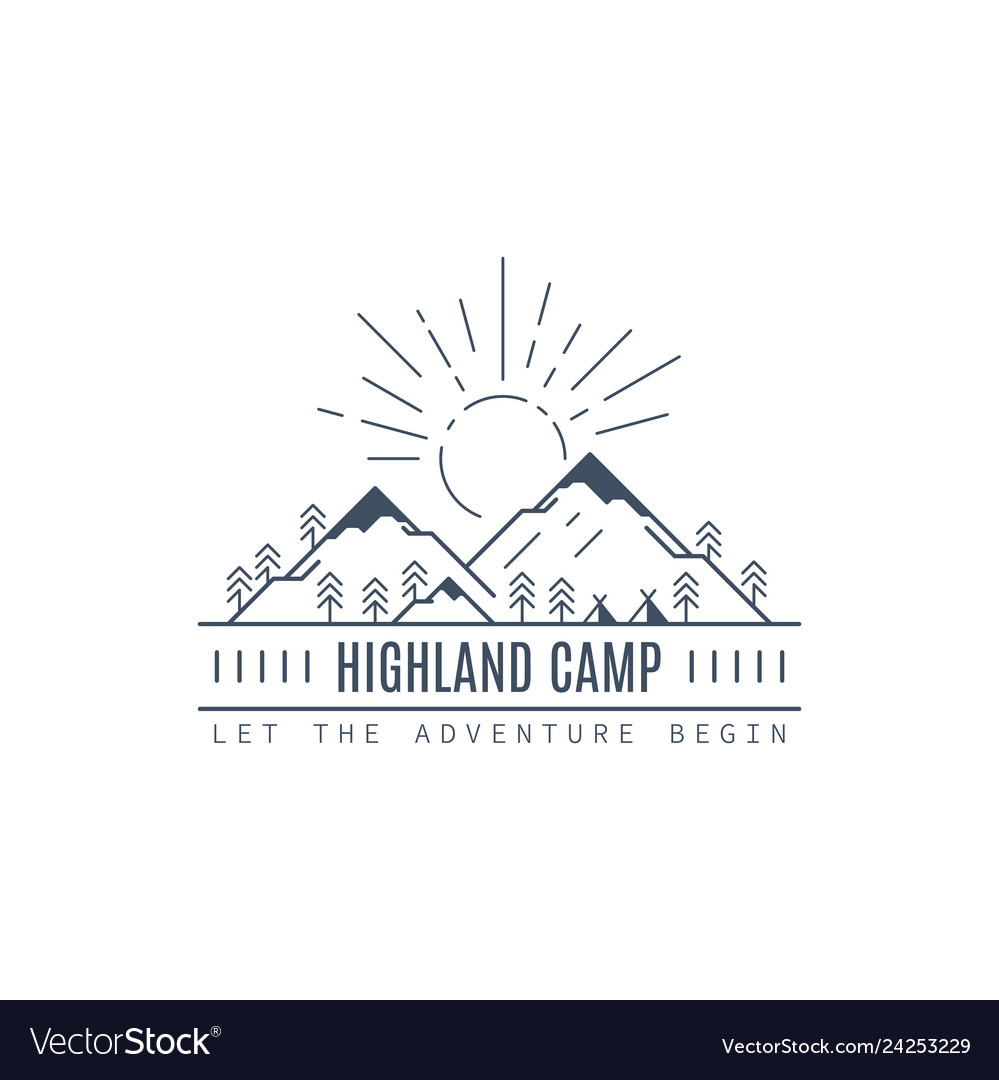 Highland camp logo design