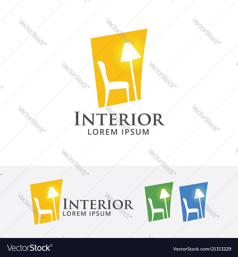 Home interior logo design