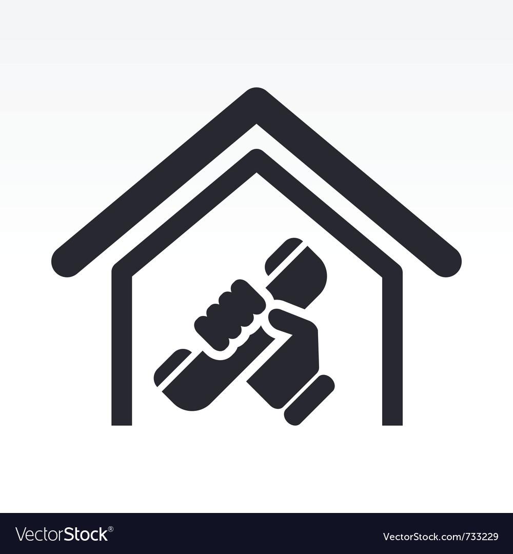 House Phone Icon Royalty Free Vector Image Vectorstock