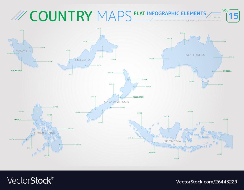 New Zealand Map Pdf.Malaysia Indonesia Australia New Zealand And