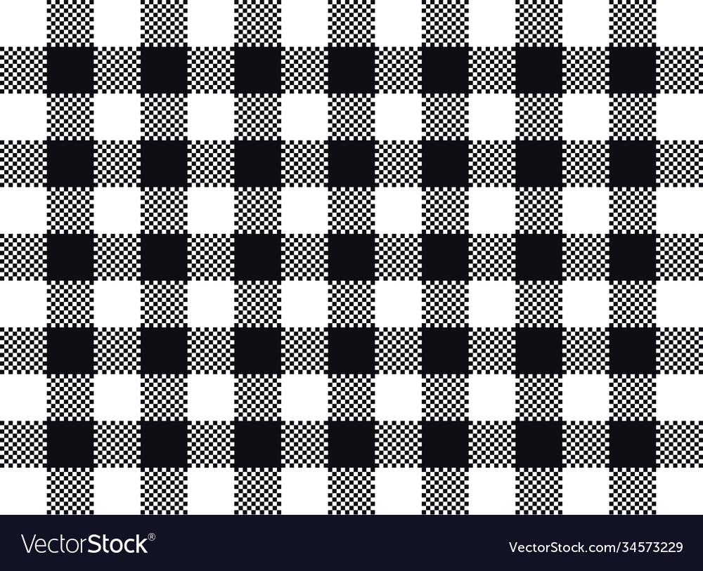 Plaid seamless pattern design black and white