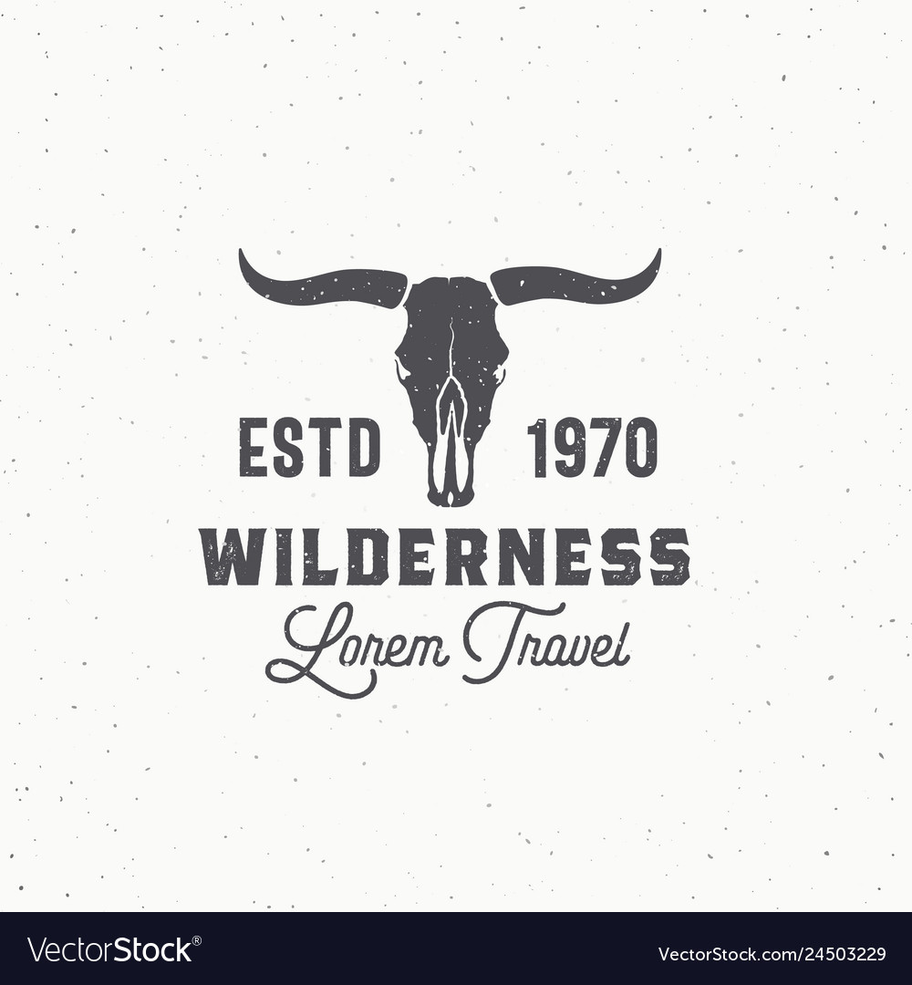 Wilderness abstract sign symbol or logo