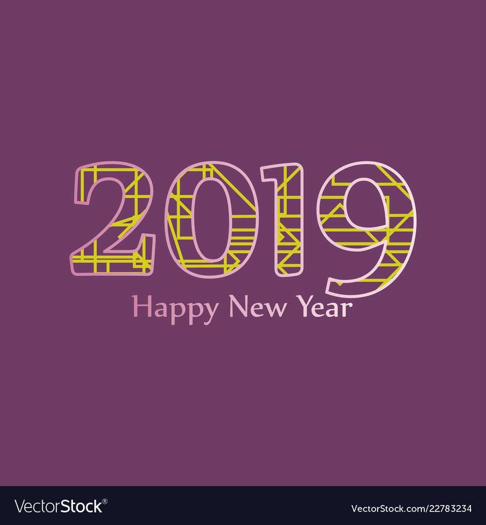 2019 happy new year greeting card celebration
