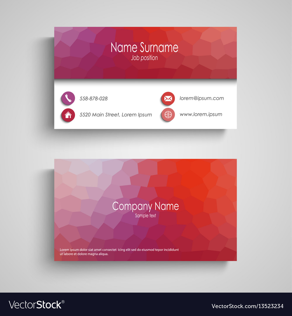 Business card with poly flow pattern vector image