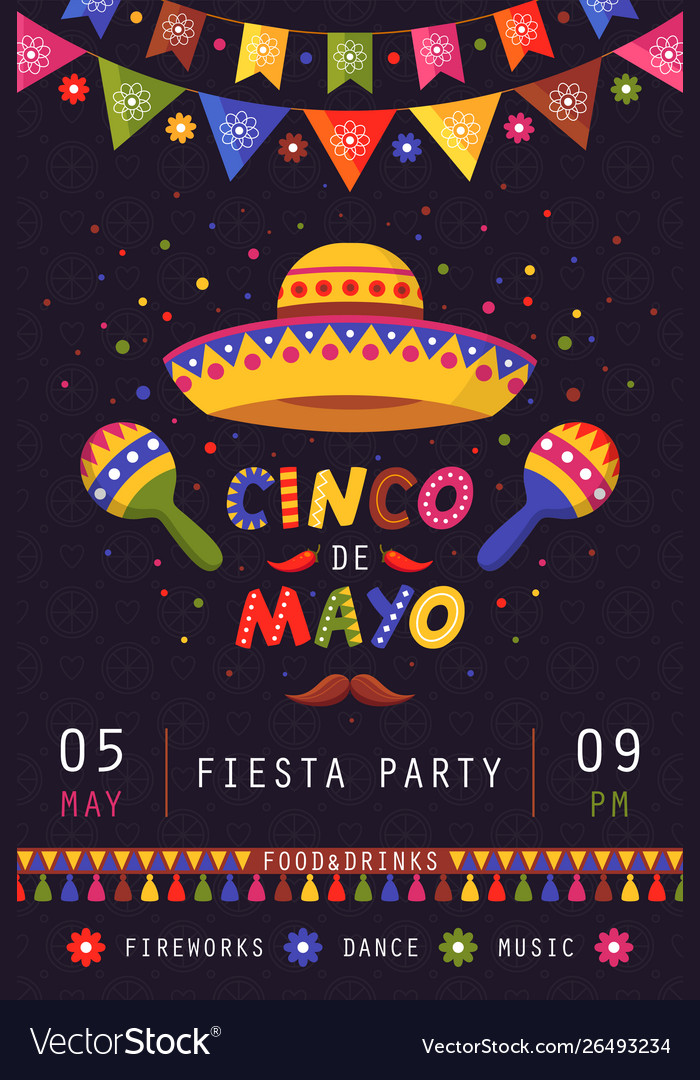 Cinco de mayo poster traditional mexican