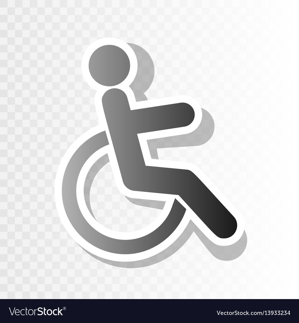 Disabled sign new year