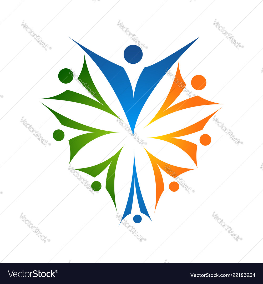 Family care love logo and symbols