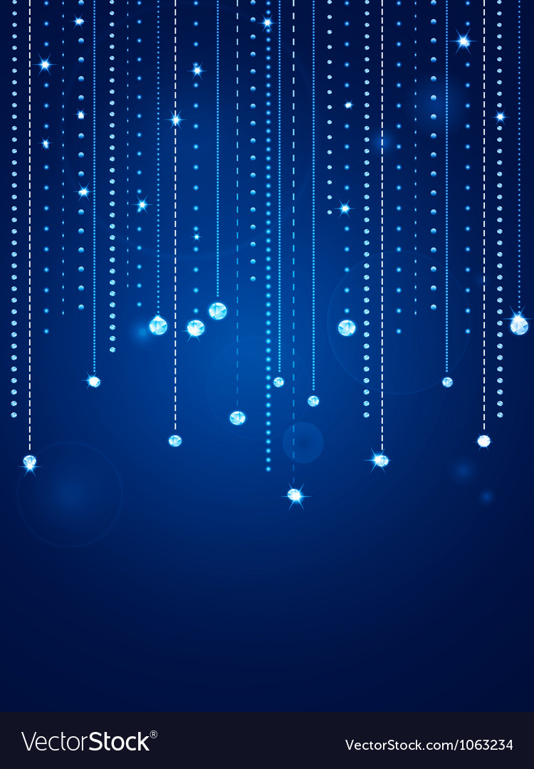 Glowing blue diamond background vector image