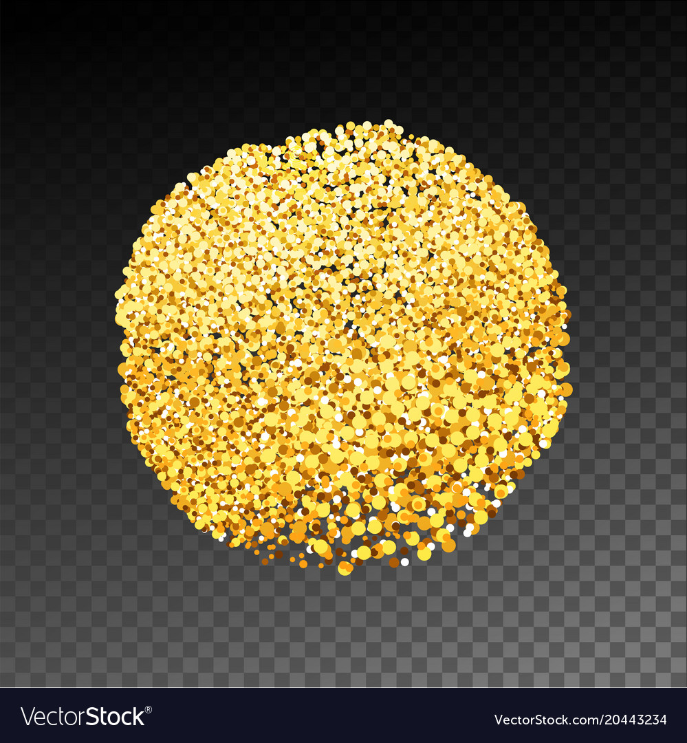 Gold textured stain circle
