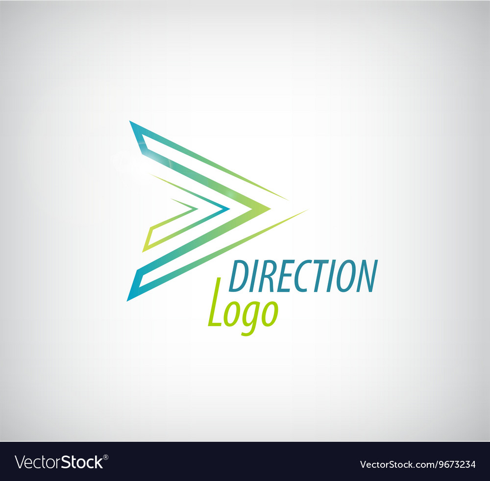 Line green arrow logo direction icon