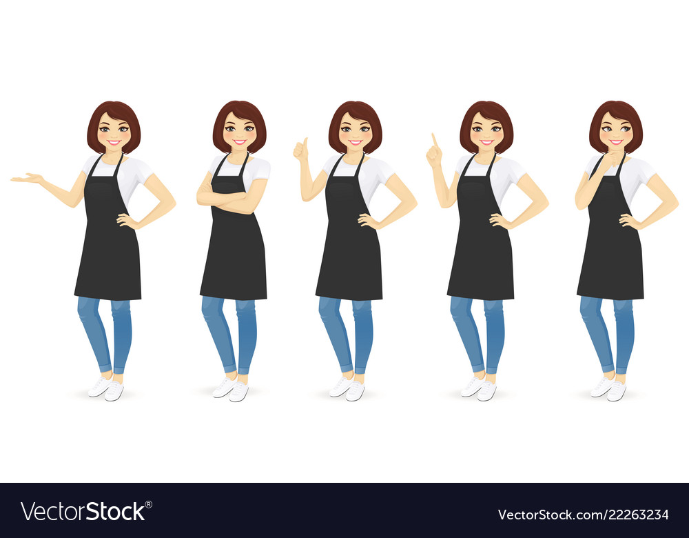 Woman in apron
