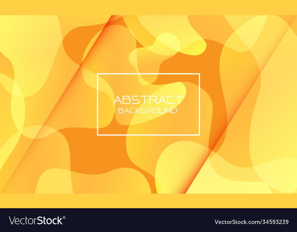 Abstract yellow orange geometric curve shape