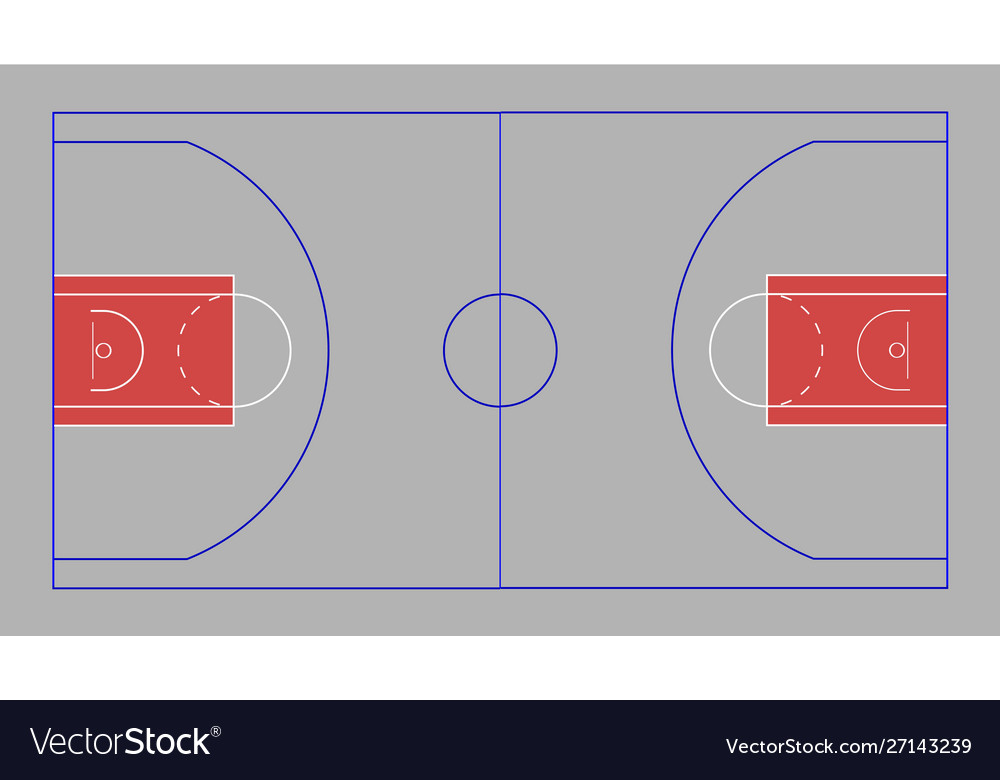 Basketball Court Royalty Free Vector Image Vectorstock