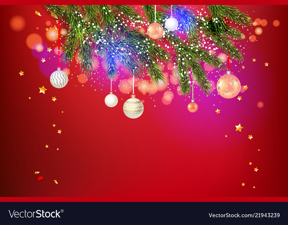 Beautiful red holiday template