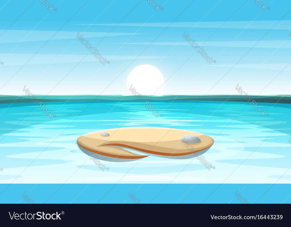 Cartoon island landscape